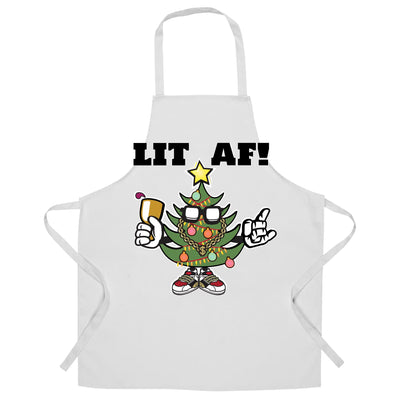 Christmas Chef's Apron Lit AF Festive Tree Light Decoration