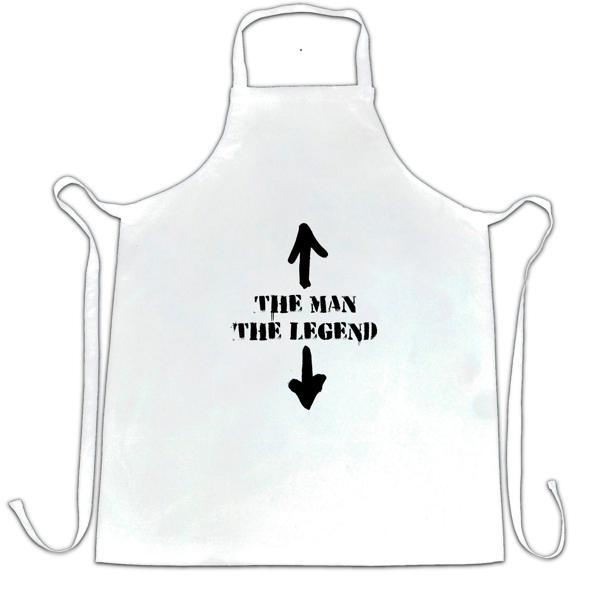 Cool Chef's Apron The Man, The Legend Novelty Funny Slogan