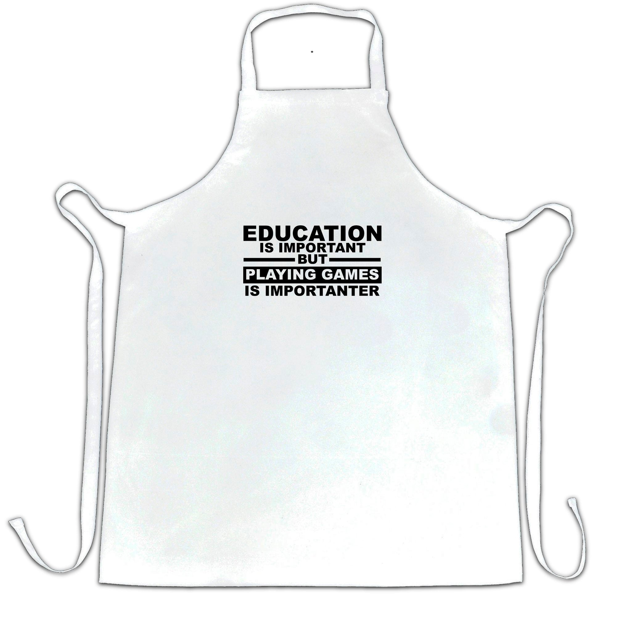 Education Chef's Apron Playing Games is Importanter