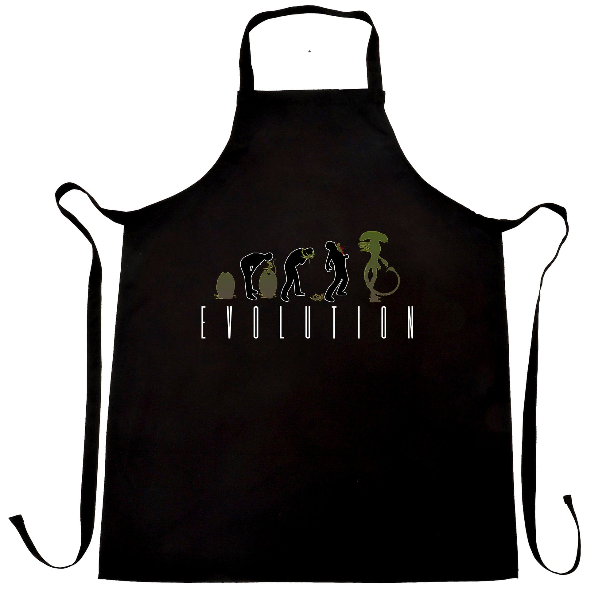 Alien Chef's Apron Evolution of a Xenomorph