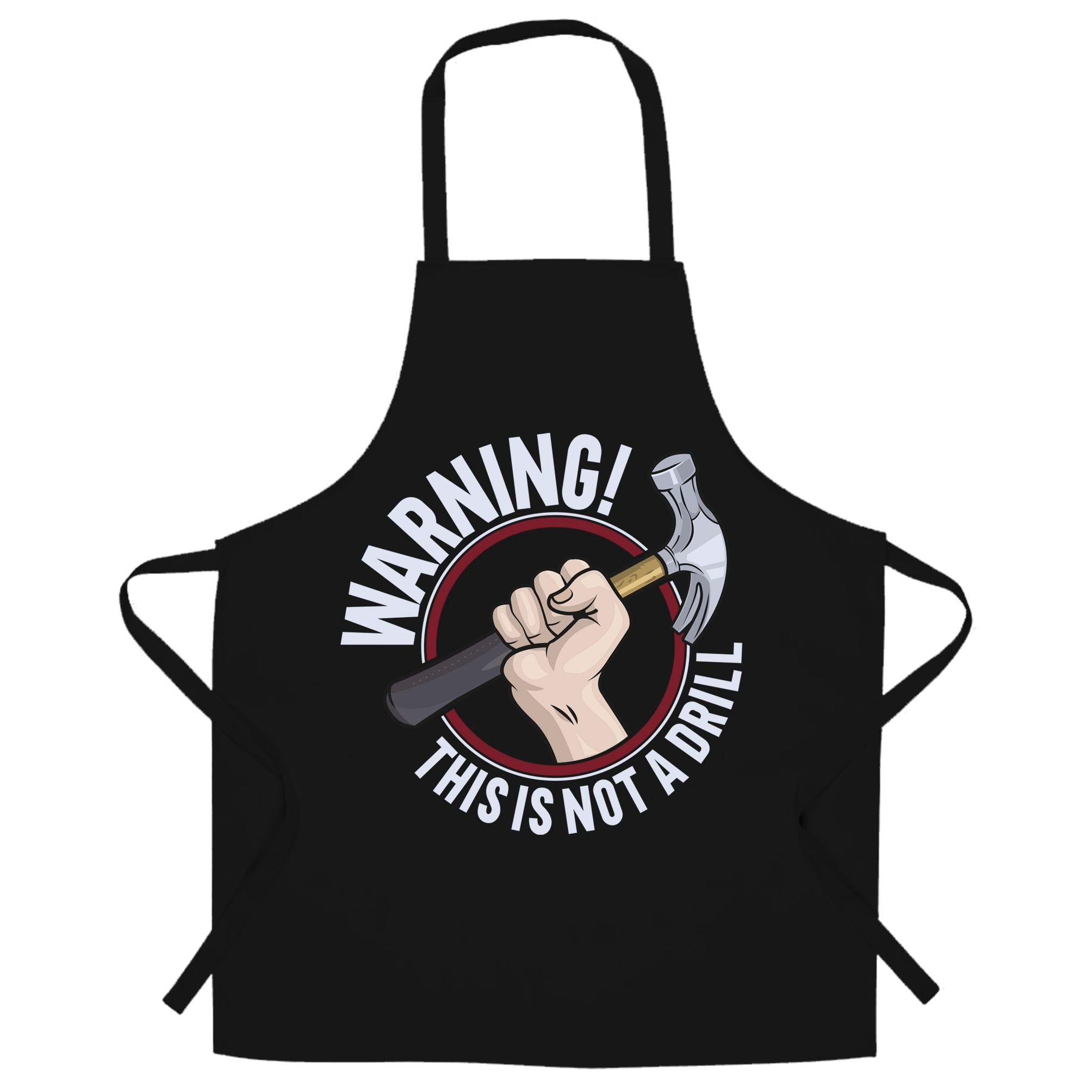 Dad Joke Chef's Apron Warning This Is Not A Drill