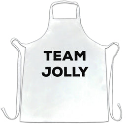 Novelty Christmas Chefs Apron Team Jolly Slogan
