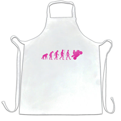 Motorcycle Chef's Apron Neon Pink Evolution of a Biker