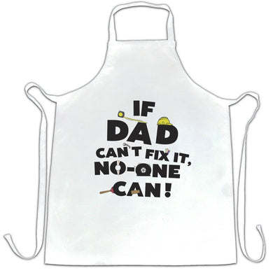 Father's Day Chef's Apron If Dad Can't Fix It No One Can