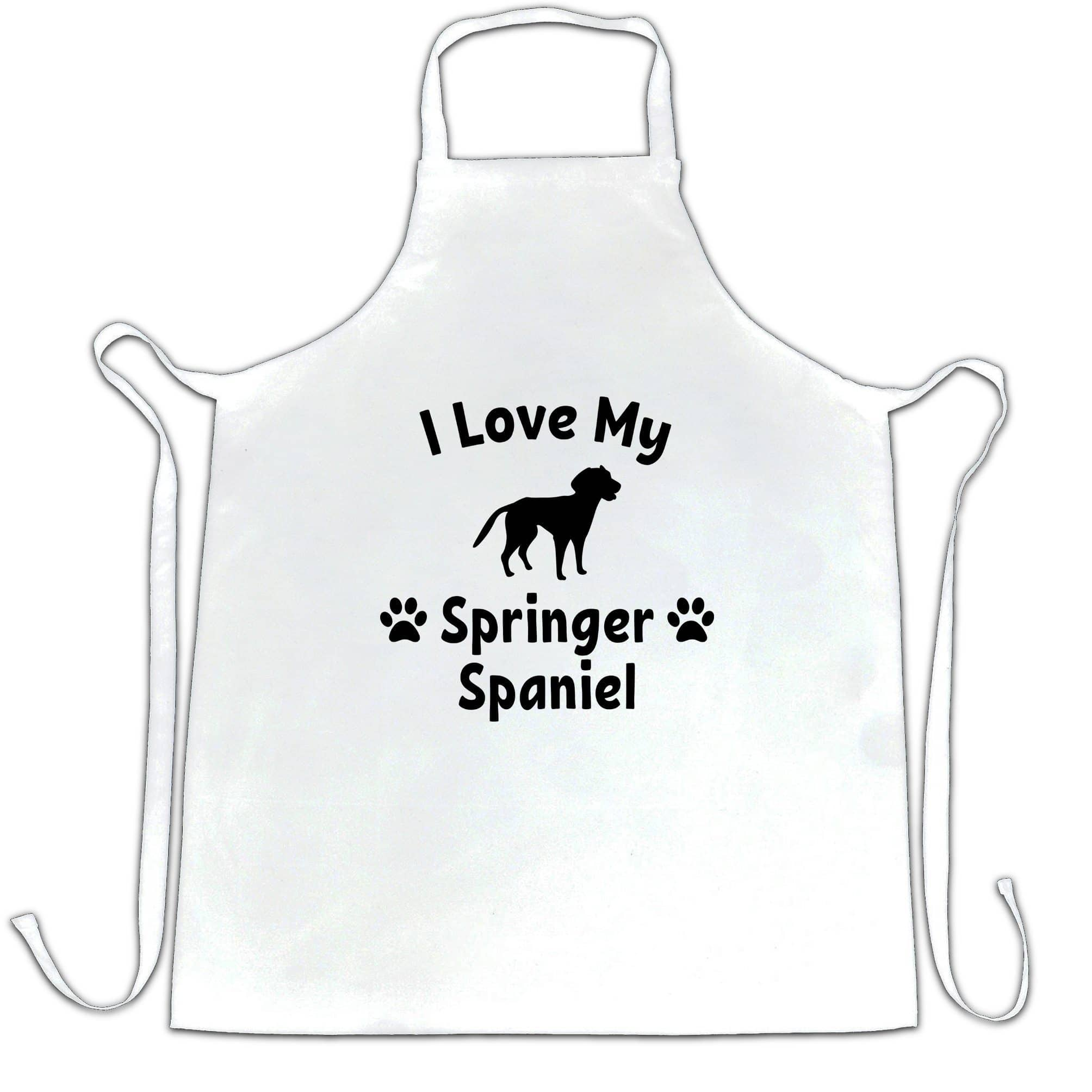 Dog Owner Chef's Apron I Love My Springer Spaniel