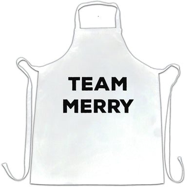 Novelty Xmas Chef's Apron Team Merry Christmas
