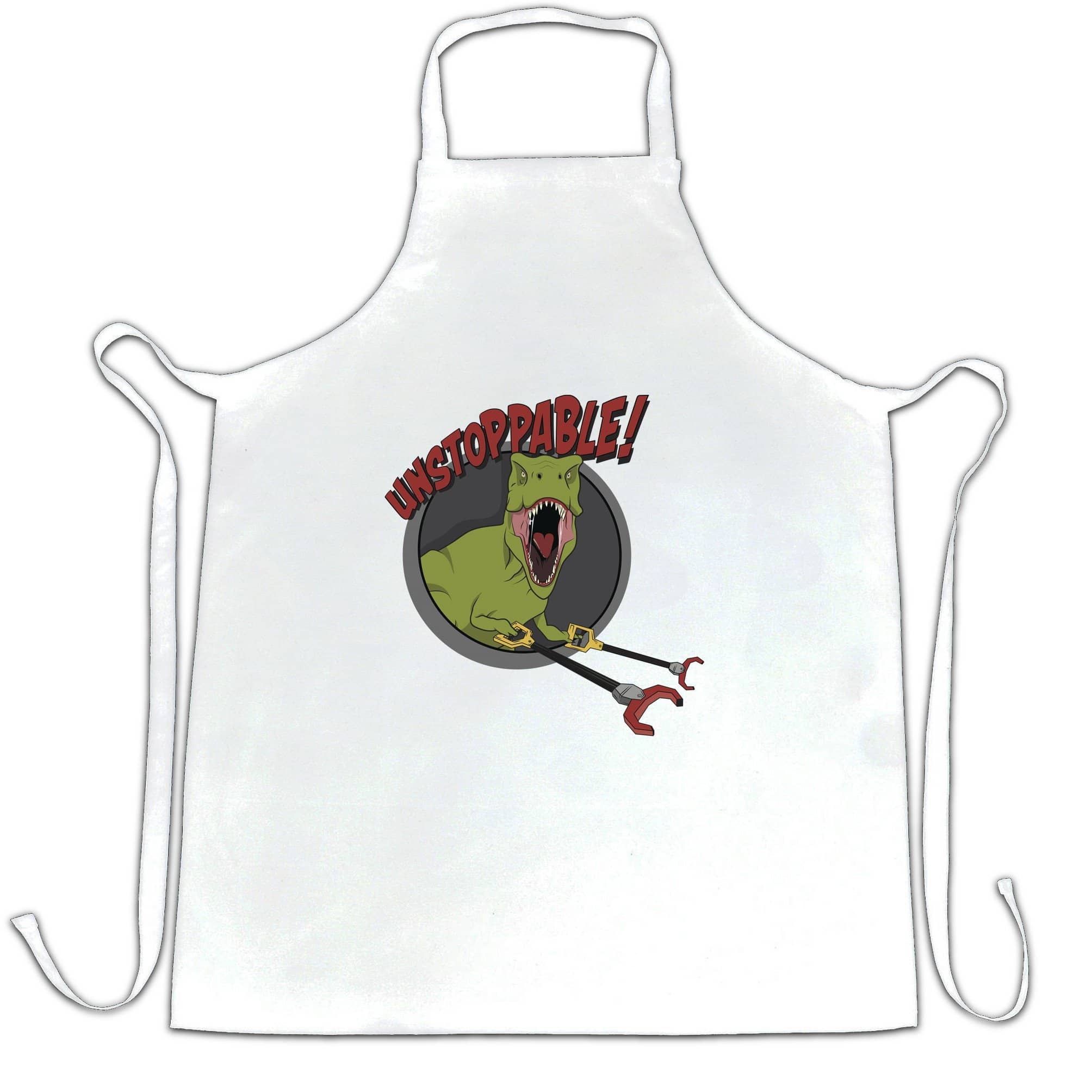 Novelty Chef's Apron Unstoppable T-Rex With Grabber Hands