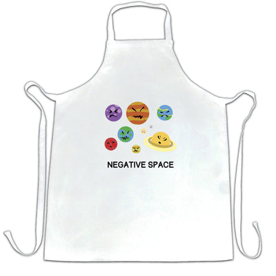 Solar System Joke Chef's Apron Negative Space And Planets