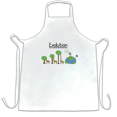 Novelty Chef's Apron Evolution Of A Giraffe And Tree