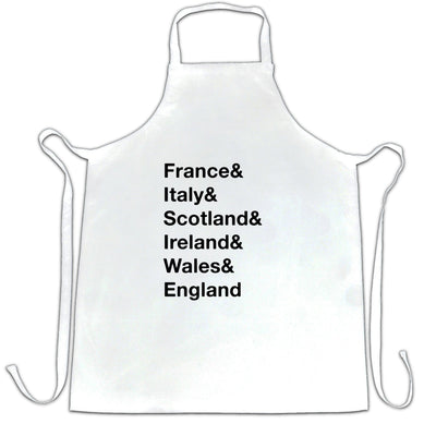 The Six Nations Chef's Apron France, Italy, Scotland
