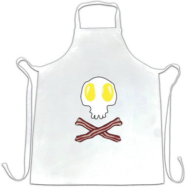 Breakfast Chef's Apron Bacon And Egg Skull & Crossbones