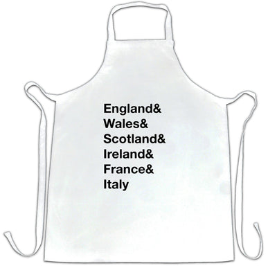 The Six Nations Chef's Apron England, Wales, Scotland