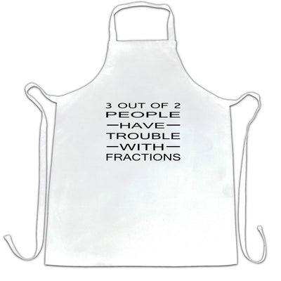 Novelty Math Chef's Apron 3 Out Of 2 People Fractions Joke