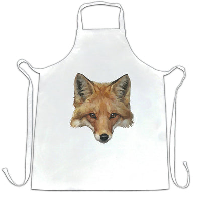 Animal Art Chef's Apron Low Poly Fox Graphic