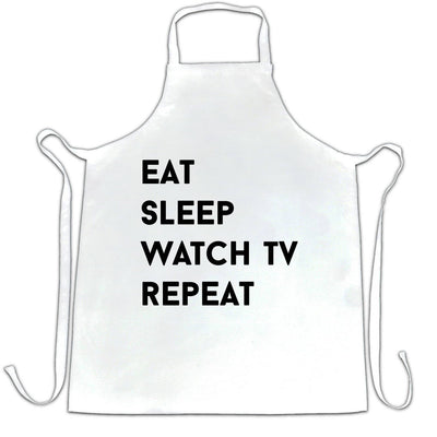 Lazy Chef's Apron Eat, Sleep, Watch TV, Repeat Slogan