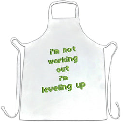 Funny Gaming Chefs Apron Not Working Out, I'm Levelling Up
