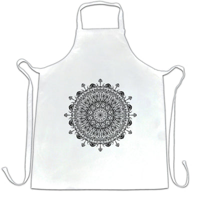 Summer Art Chef's Apron Indian Mandala Pattern Design