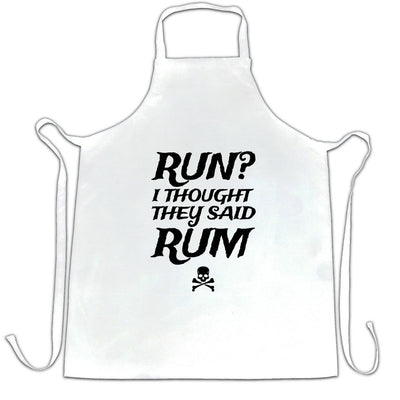 Novelty Chef's Apron Run? I Thought They Said Rum Slogan