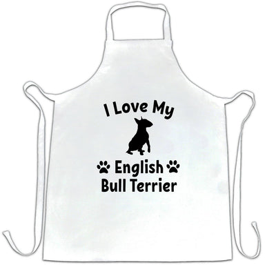 Dog Owner Chef's Apron I Love My English Bull Terrier