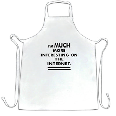 Funny Chefs Apron I'm More Interesting On The Internet