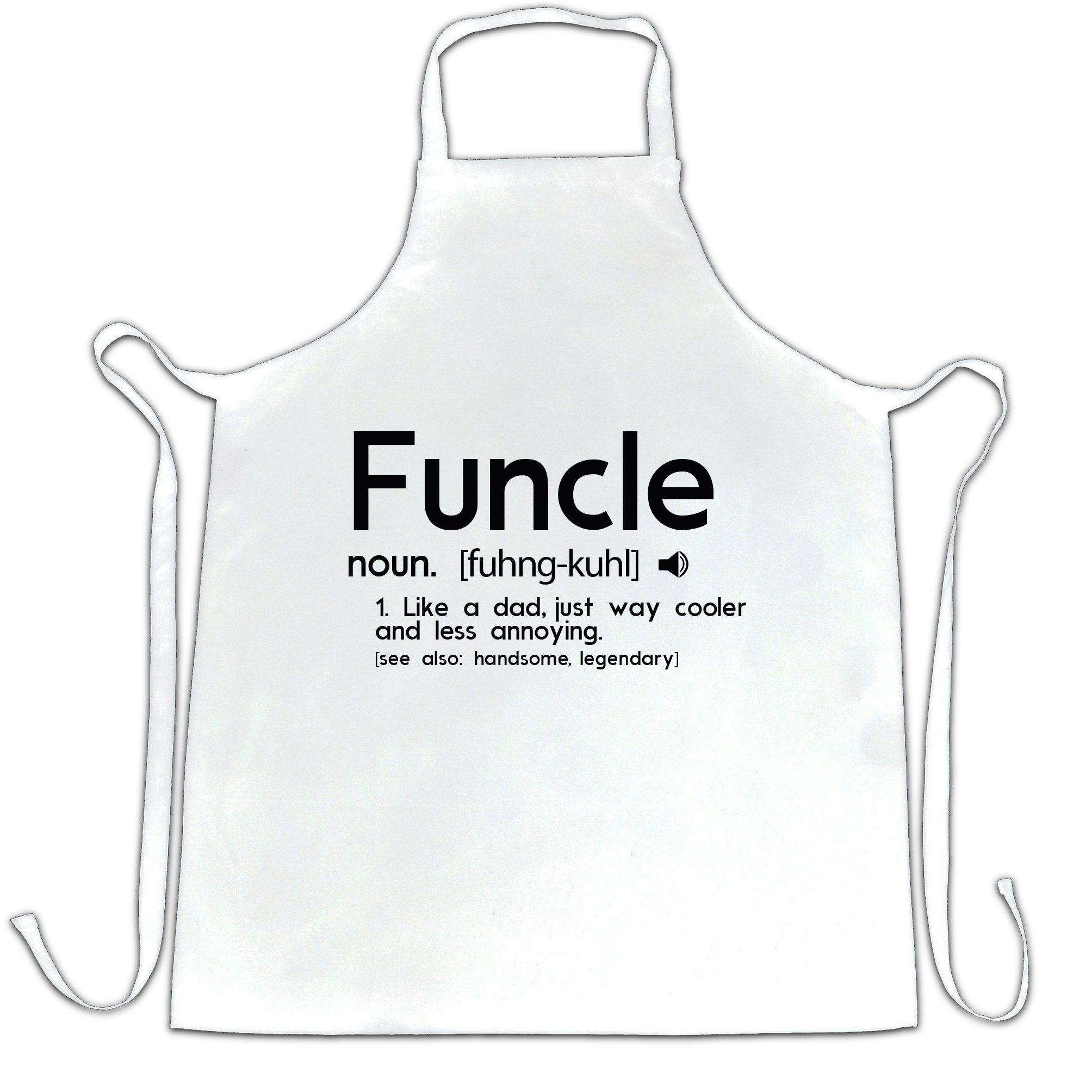 Novelty Chef's Apron Funcle Fun Uncle Pun Definition Joke