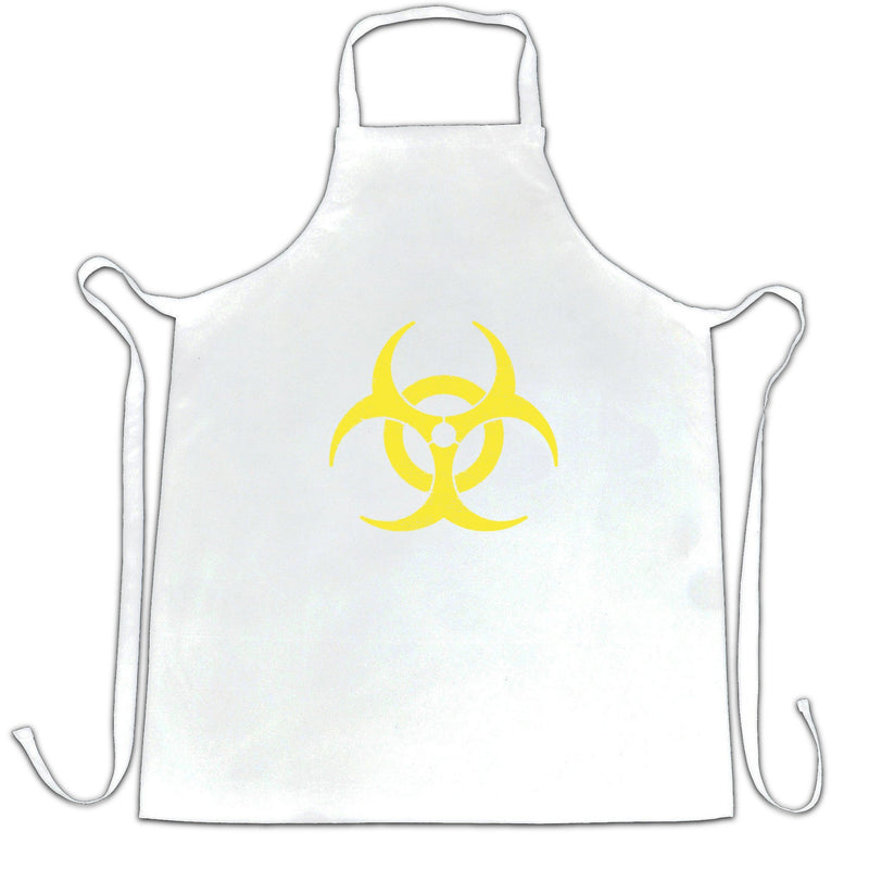 Biohazard Distressed Logo Warning Danger Hazardous Apron