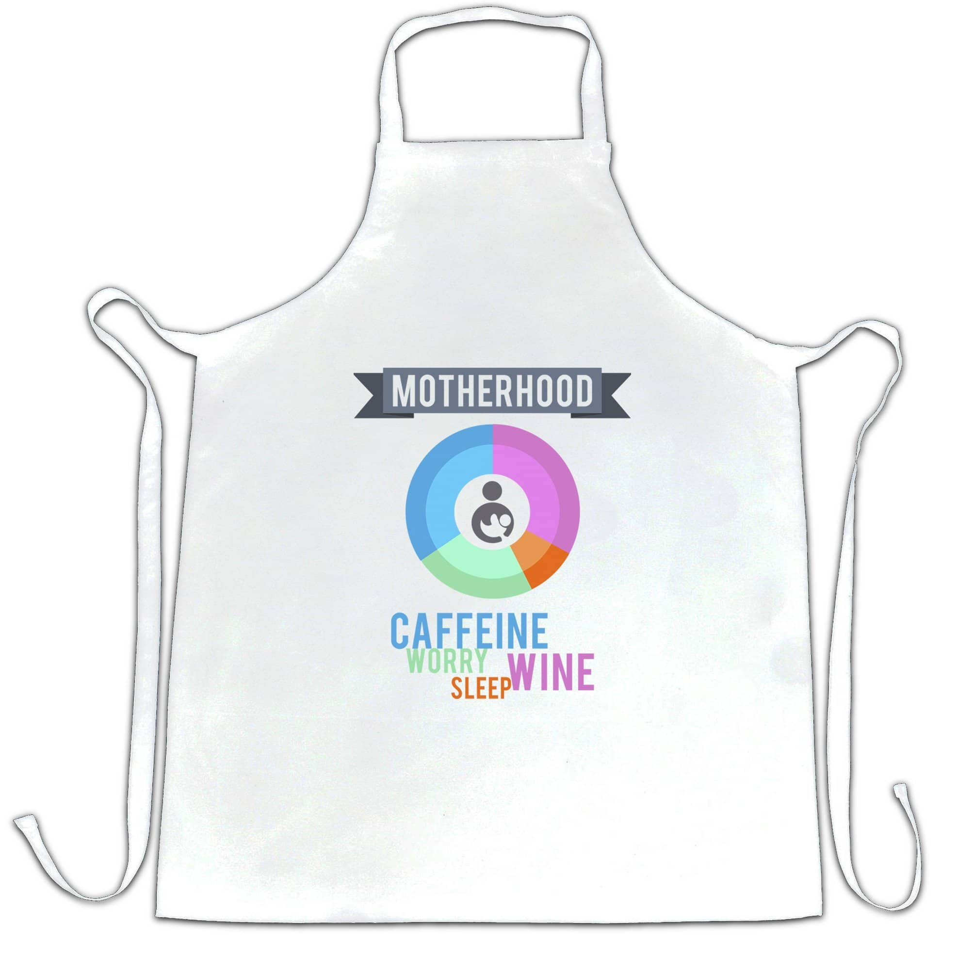 Novelty Mothers Day Chef's Apron Motherhood Infographic