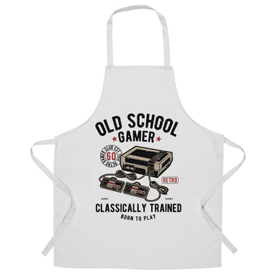 Gaming Chef's Apron Old School Gamer Retro Videogame Arcade