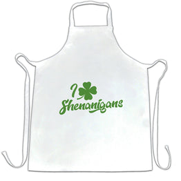 Novelty St Patricks Day Chefs Apron I Love Shenanigans