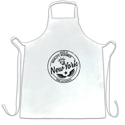 Hometown Pride Chefs Apron Made in New York Stamp