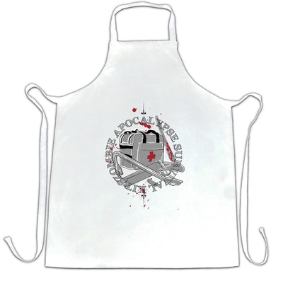 Zombie Apocalypse Chef's Apron Survival Kit Logo