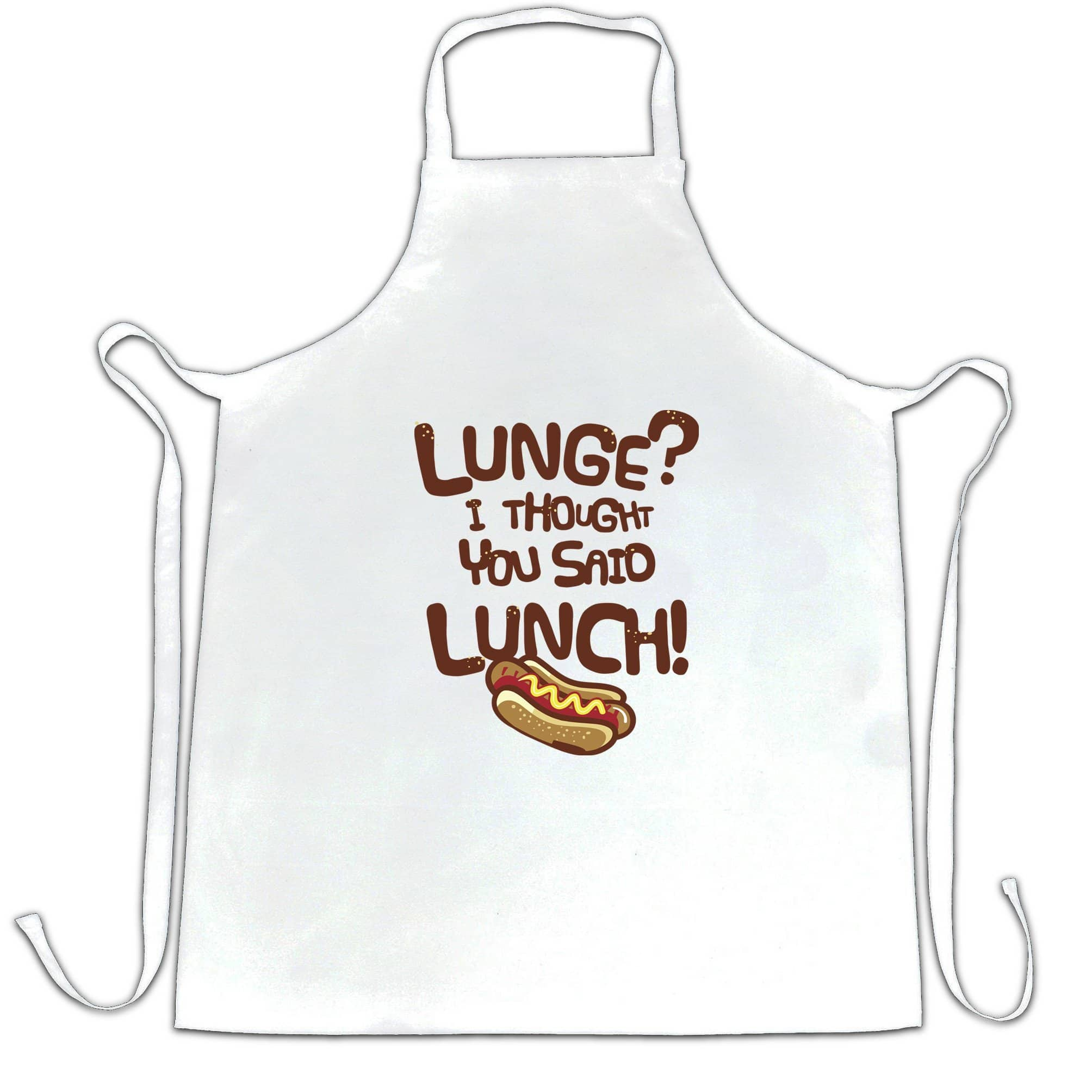 Novelty Gym Chef's Apron Lunge? I Thought You Said Lunch