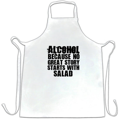 Novelty Chef's Apron No Great Story Starts With Salad