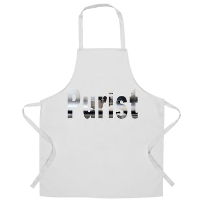 Old School DJ Chef's Apron Purist With Record Player