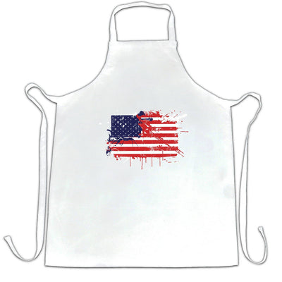 American Chef's Apron Paint Splatter USA Flag