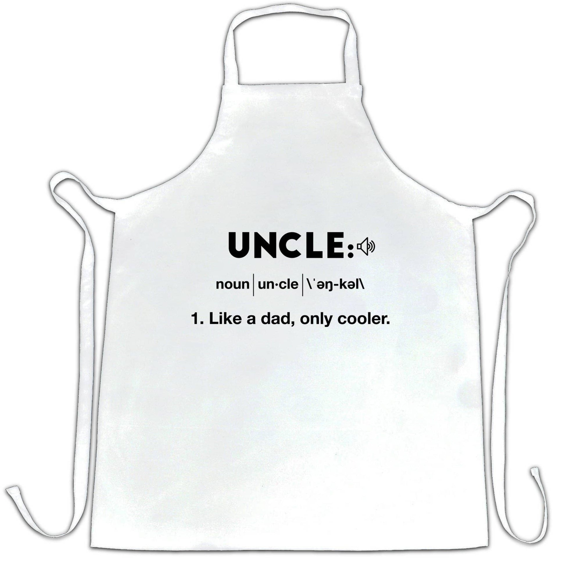 Novelty Chef's Apron Uncle: Like A Dad, Only Cooler Joke