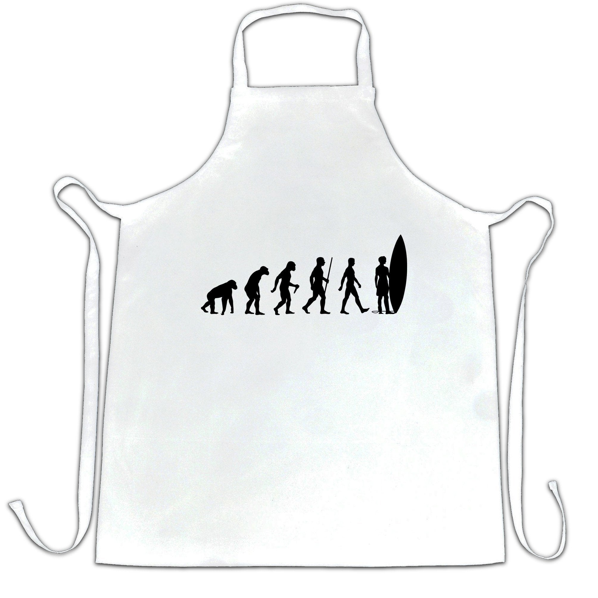 Summer Beach Chef's Apron Evolution Of A Surfer Dude