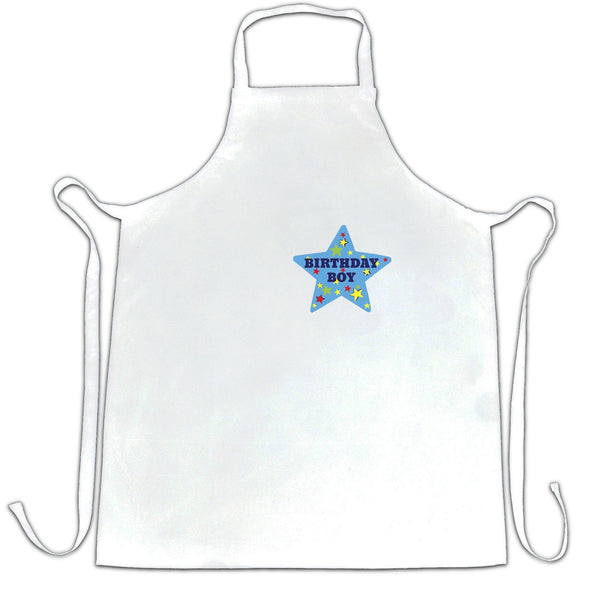 Novelty Party Chef's Apron Birthday Boy Pocket Print Badge