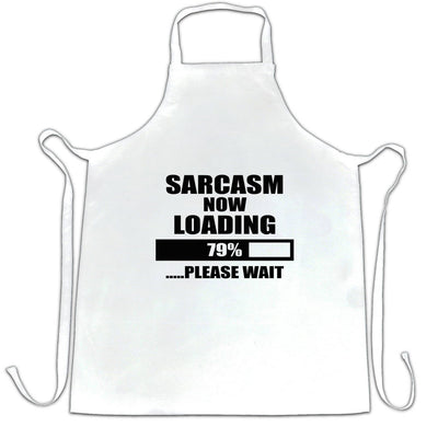 Novelty Chef's Apron Sarcasm Loading Bar Please Wait