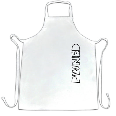 Novelty Gaming Chef's Apron PWNED Sideways Text Slogan