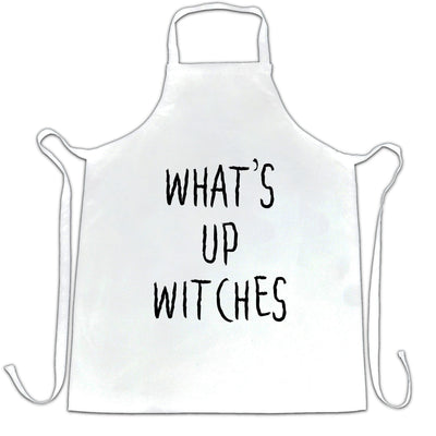 Novelty Halloween Chef's Apron What's Up Witches Pun