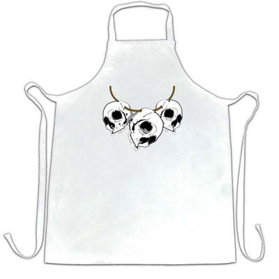 Voodoo Chef's Apron Three Skull Necklace Tribal Art