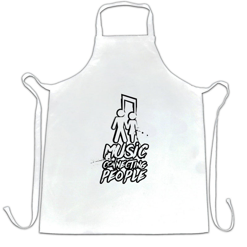 Cute Couples Chefs Apron Music Connecting People Slogan