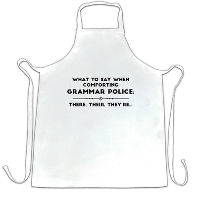 Pun Chef's Apron What To Say When Comforting Grammar Police