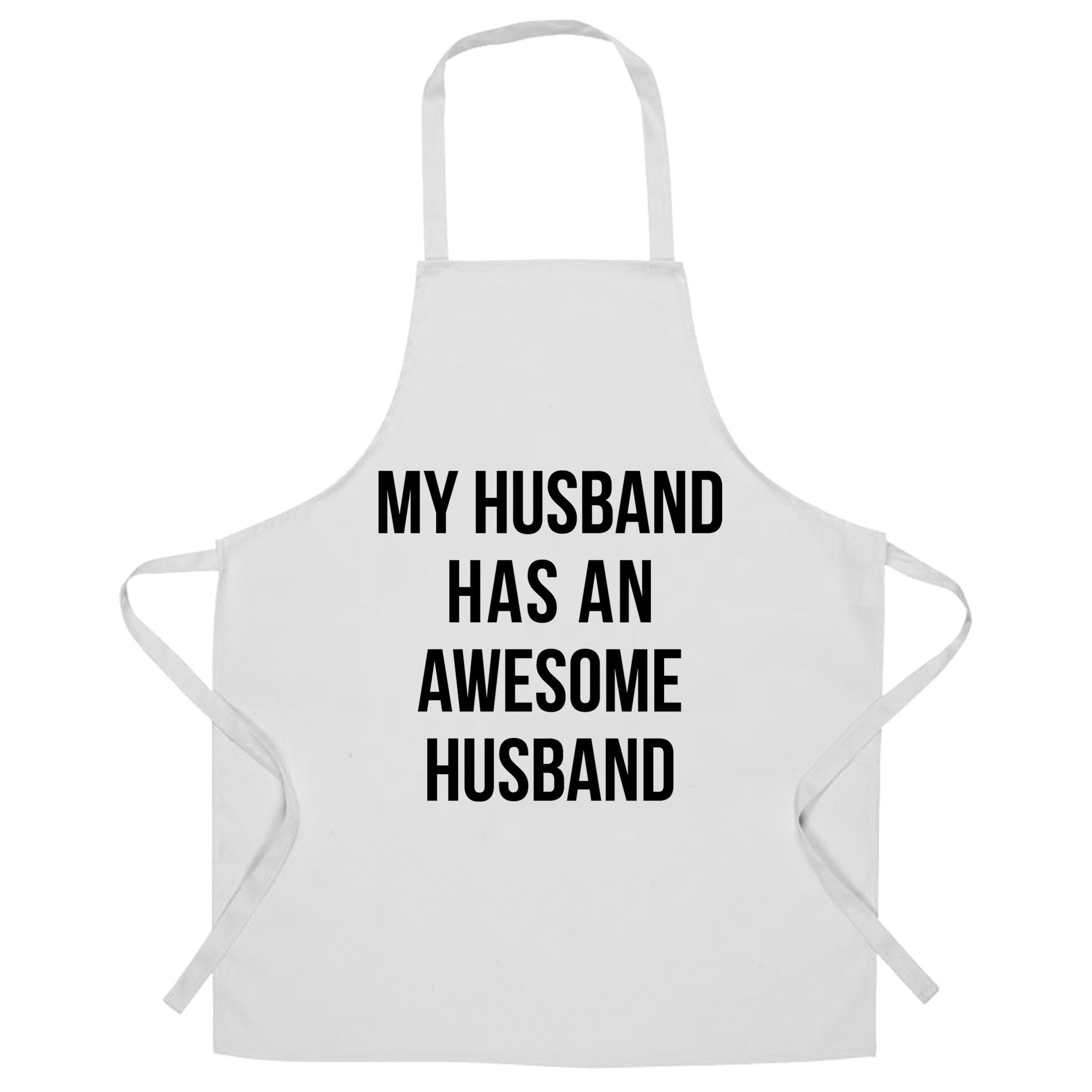 Joke Couples Chef's Apron My Husband Has An Awesome Husband