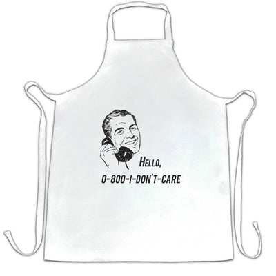 Novelty Chef's Apron Hello, 0800 I Don't Care 1950s Slogan