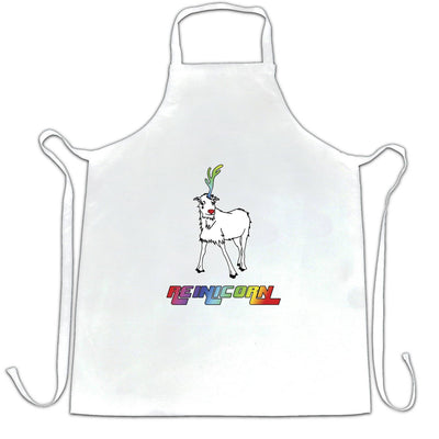Christmas Chef's Apron Reinicorn Reindeer Unicorn