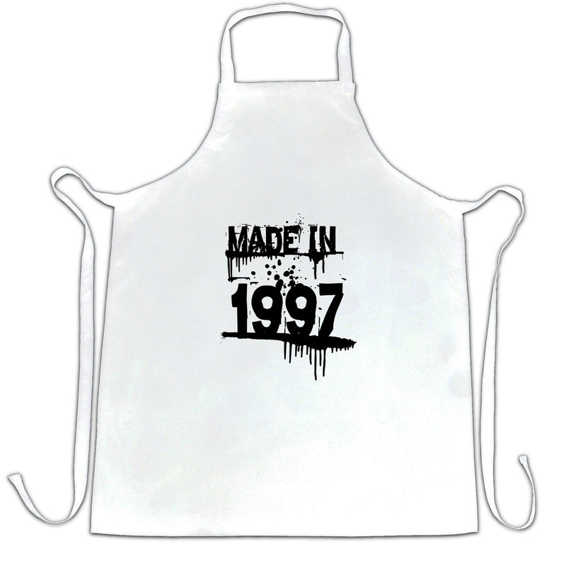 Made in 1997 Dripping Paint Graffiti Stencil Year Design Apron