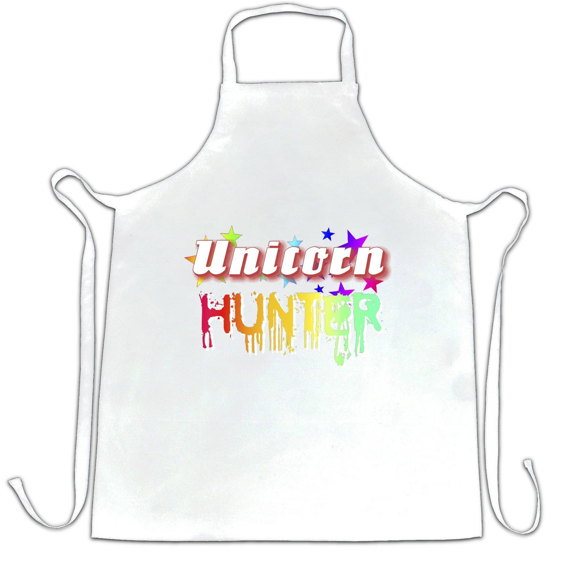 Fantasy Chef's Apron Unicorn Hunter Rainbow Slogan