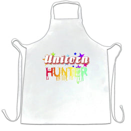 Fantasy Chefs Apron Unicorn Hunter Rainbow Slogan